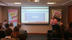 Julian and Harvey presenting the Aspin demo site